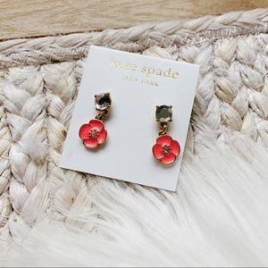 Kate spade orange flowers earrings